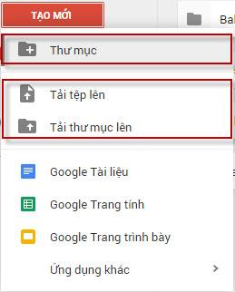 Tải file lên Google Drive