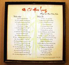 Bài dạ cổ hoài lang - Cao Văn Lầu