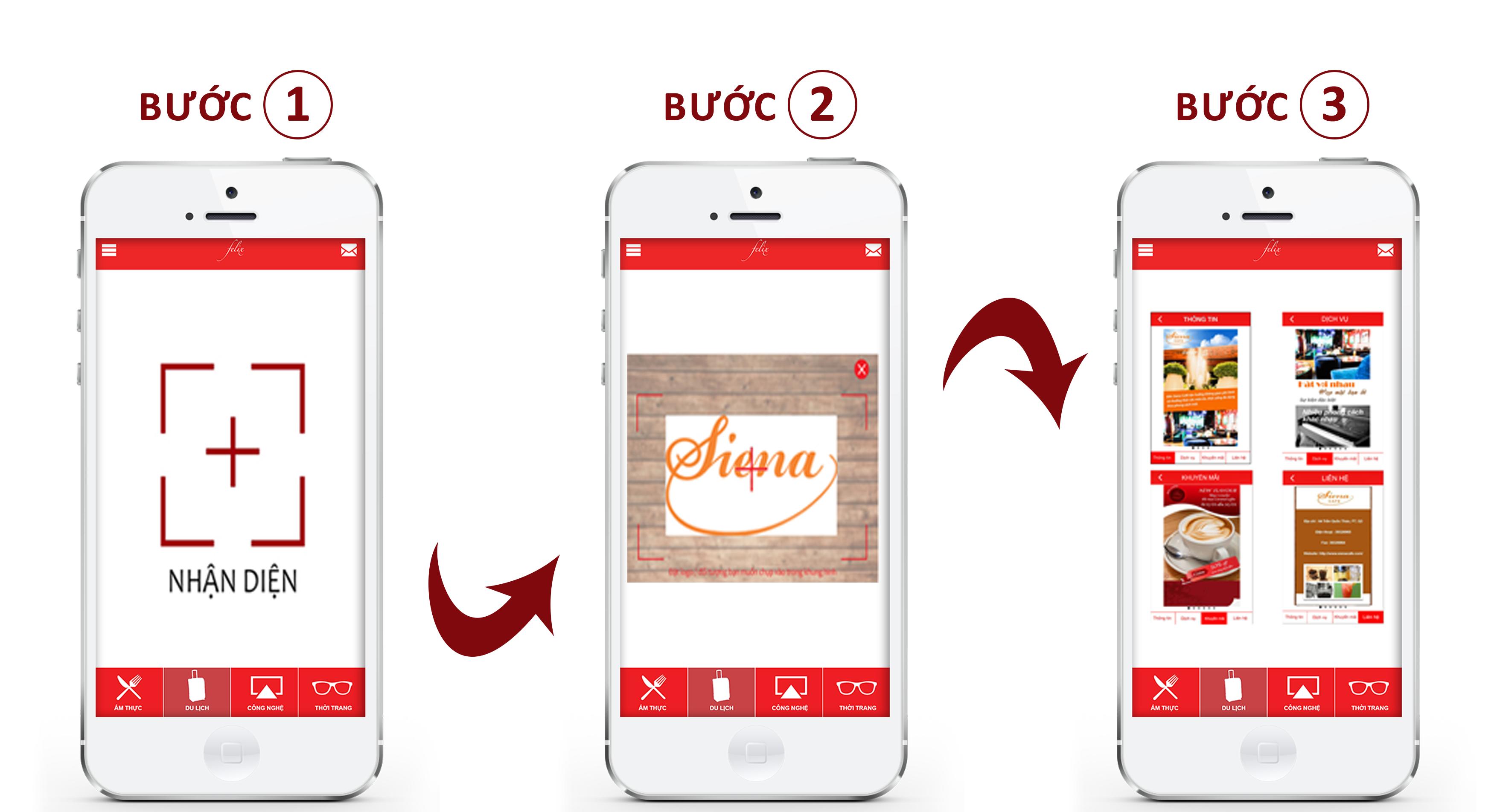 Các bước sử dụng chức năng NHẬN DIỆN trên ứng dụng Felixvn App
