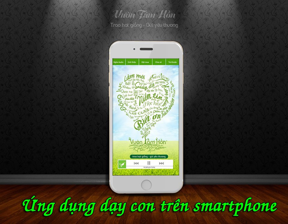 Ứng dụng Vườn tâm hồn trên smartphone