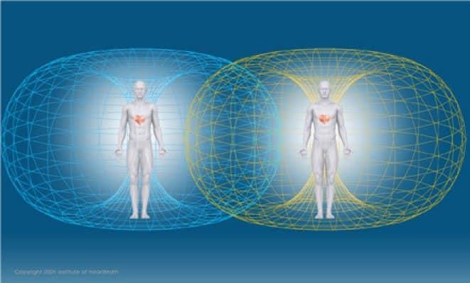 Trường điện từ sinh học tạo ra bởi trái tim mỗi người có thể kết nỗi với nhau (ảnh: IHM)